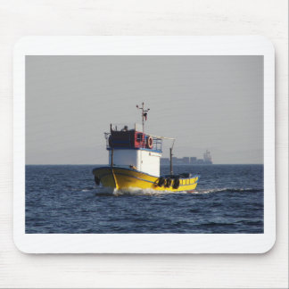 Small Yellow Fishing Boat Mouse Pad