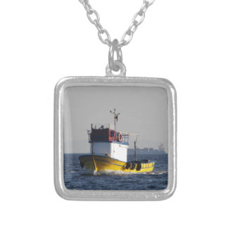 Small Yellow Fishing Boat Necklace