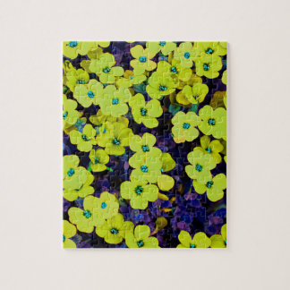 Small Yellow Flowers Jigsaw Puzzle
