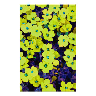 Small Yellow Flowers Stationery