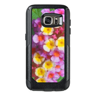 Small Yellow Pink and Purple Tropical Flowers OtterBox Samsung Galaxy S7 Case