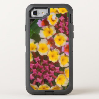 Small Yellow Tropical Flowers With Pink Buds OtterBox Defender iPhone 8/7 Case