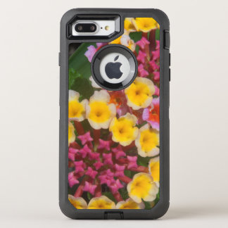 Small Yellow Tropical Flowers With Pink Buds OtterBox Defender iPhone 8 Plus/7 Plus Case
