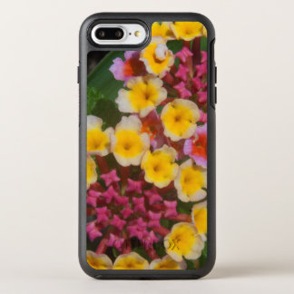 Small Yellow Tropical Flowers With Pink Buds OtterBox Symmetry iPhone 8 Plus/7 Plus Case