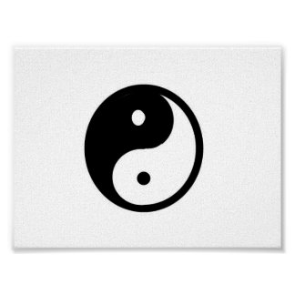Small Yin/Yang canvas print