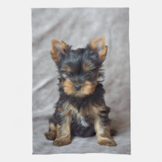 Small yorkie tea towel