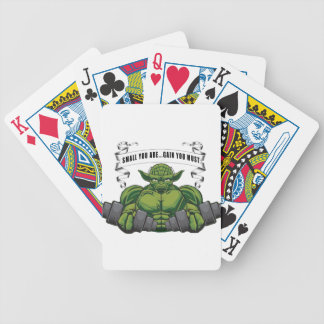 SMALL YOU ARE...GAIN YOU MUST BICYCLE PLAYING CARDS