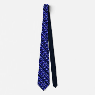 Smaller Diagonal blue and black snow in trees tie