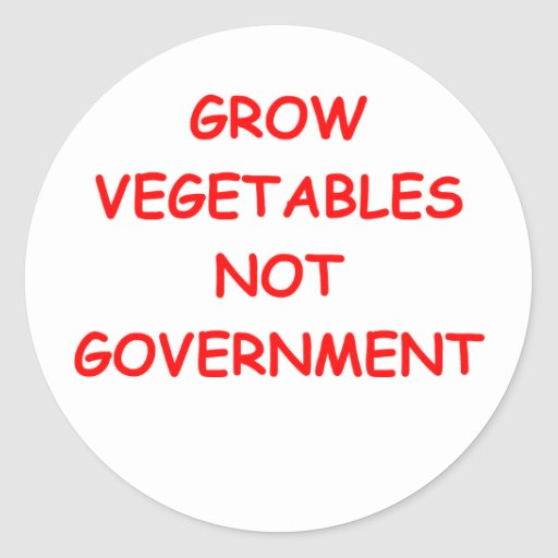 smaller government round stickers