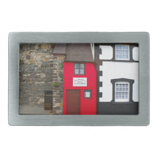 Smallest house in Great Britain Rectangular Belt Buckles
