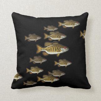 Smallmouth Bass Fish Designer Accent Square Pillow