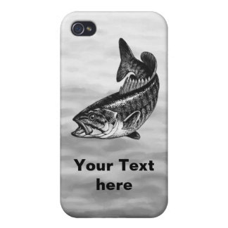 Smallmouth Bass Fishing graphic iPhone 4/4S Cover