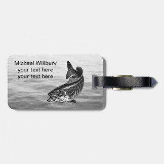 Smallmouth Bass Fishing Luggage Tag
