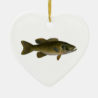 Smallmouth Bass Logo Ceramic Ornament