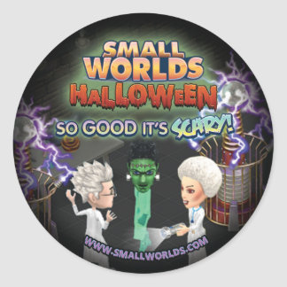 SmallWorlds Halloween Frankenstein Stickers