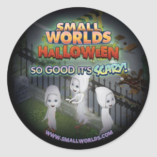 SmallWorlds Halloween Ghost Stickers