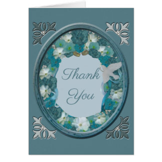 Smalt Blues Horizon Thank You Card
