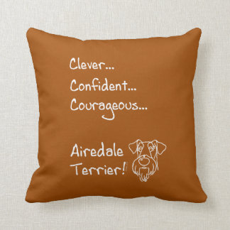 Smart Airedale Terrier Cushion