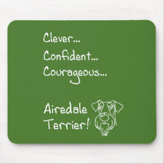Smart Airedale Terrier Mouse Pad