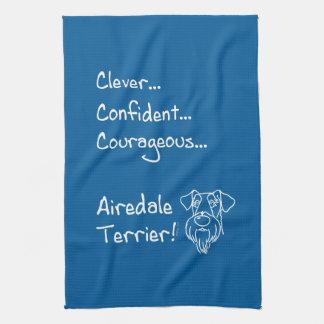 Smart Airedale Terrier Tea Towel
