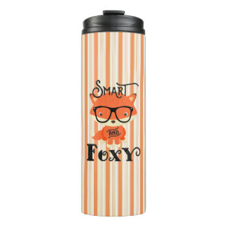 Smart AND Foxy-Stripes Thermal Tumbler
