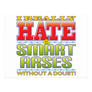 Smart Arses Hate Face Postcard