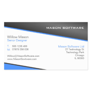 Smart Blue and Gray Professional Business Card