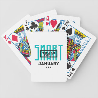 Smart Born In January Babies Birthday Bicycle Playing Cards
