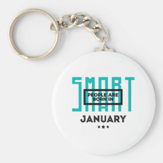 Smart Born In January Babies Birthday Key Ring
