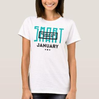 Smart Born In January Babies Birthday T-Shirt
