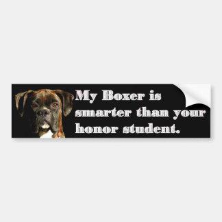 Smart boxer bumper sticker