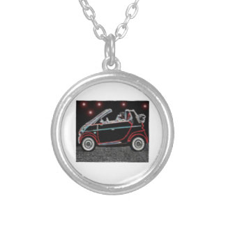 Smart Car Silver Plated Necklace