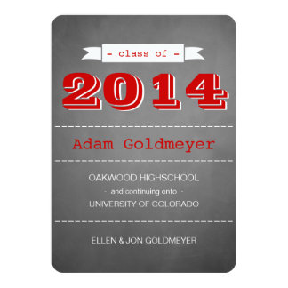 SMART CARDS ANY COLOR GRADUATION ANNOUNCEMENTS