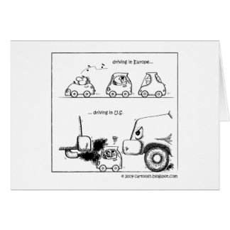 Smart Cars in U.S. Greeting Cards