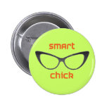 Smart Chick Geek Eyeglasses Pin