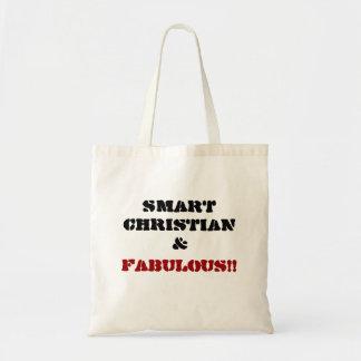 SMART CHRISTIAN & FABULOUS!!... Religious tote Bags