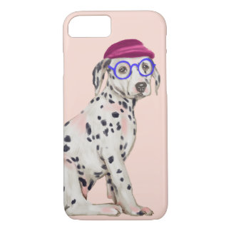 Smart Dalmatian (Background Color Editable) iPhone 8/7 Case
