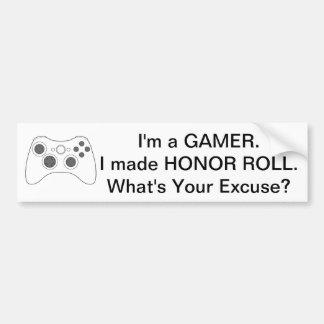 Smart Gamer Bumper Sticker