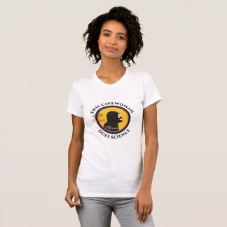 Smart Gear Science Cavewoman STEM Big Logo T-Shirt