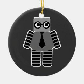 Smart Geek Robot Ceramic Ornament