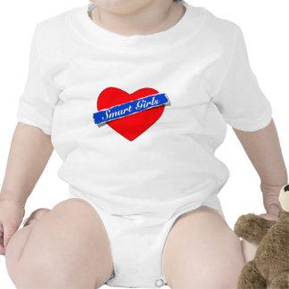 Smart Girls Heart Logo Baby Bodysuit