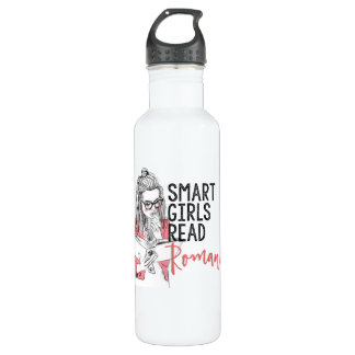 Smart Girls Read Romance Water Bottle
