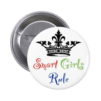 Smart Girls Rule with Crown Pinback Buttons
