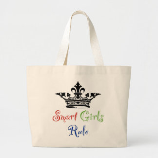 Smart Girls Rule...with Crown Tote Bag