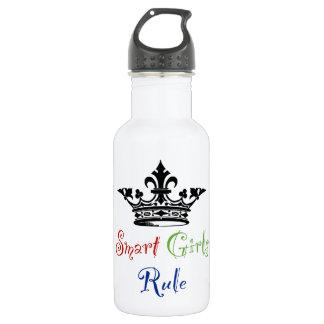 Smart Girls Rule...with Crown 532 Ml Water Bottle