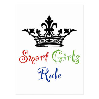 Smart Girls Rule...with Crown Postcard