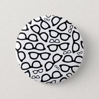 Smart Glasses Pattern 6 Cm Round Badge
