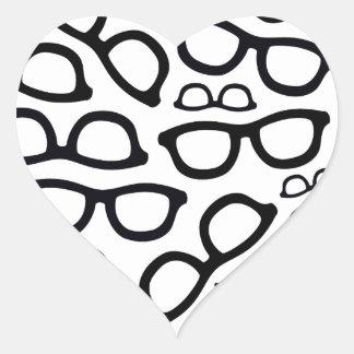 Smart Glasses Pattern Heart Sticker