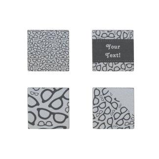 Smart Glasses Pattern Stone Magnet