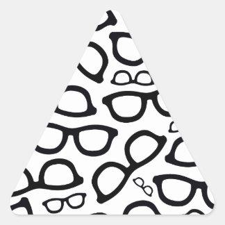 Smart Glasses Pattern Triangle Sticker
